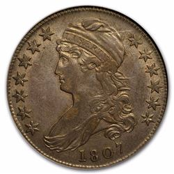 1807 Large Stars 50/20 Capped Bust Half Dollar AU-53 NGC 210 YEARS OLD