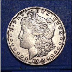 1893-O Morgan Silver Dollar $1 - XF - Rare Key Date Morgan! Only 300,000 Minted