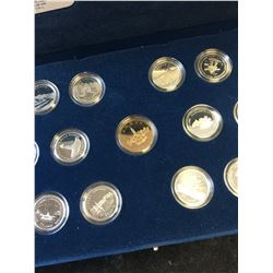 1992 CANADA COMMEMORATIVE 25 CENTS SET! STERLING SILVER!