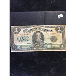 1923 DOMINION OF CANADA $1 NOTE!
