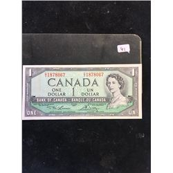 1954 BANK OF CANADA $1 NOTE! LAWSON/BOEUY!
