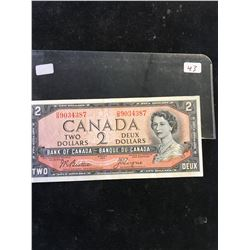 1954 BANK OF CANADA $2 NOTE! BEATTIE/COYNE