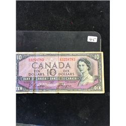 1954 BANK OF CANADA $10 DEVILS FACE!