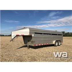 2002 REAL PIONEER T/A STOCK TRAILER