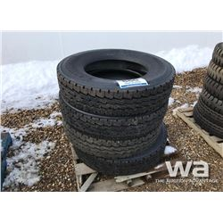 (4) 11R24.5 RECAP TRAILER TIRES
