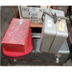 TOOLBOX & CONTENTS, VINTAGE HEATER