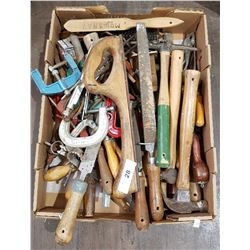 BOX LOT MISC HAND TOOLS