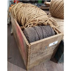 ANTIQUE DYNAMITE WOODEN CRATE W/TWINE