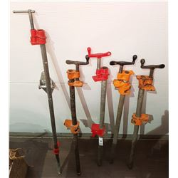 FIVE WOOD CLAMPS
