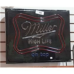 MILLER HIGH LIFE LIGHT UP BEER SIGN