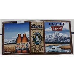 ORIGINAL COORS BEER TIN SIGN
