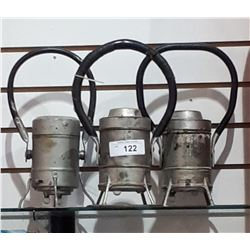 THREE VINTAGE RAILWAY LANTERNS