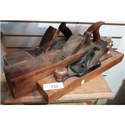 THREE ANTIQUE WOODEN HAND PLANES
