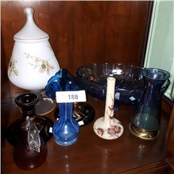 SHELF LOT COLLECTIBLE GLASS