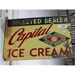 VINTAGE CAPITAL CO-OP ICE CREAM DOUBLE SIDED DEALER SIDE