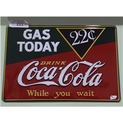 EMBOSSED COCA COLA TIN SIGN-REPRODUCTION