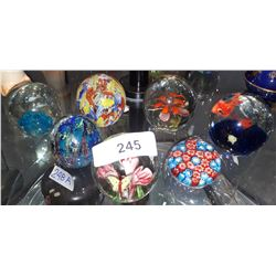 SEVEN ART GLASS PAPER WEIGHTS