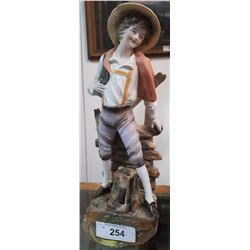 VINTAGE PORCELAIN FIGURE OF BOY
