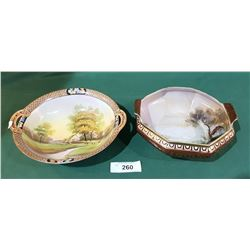 TWO HAND PAINTED NIPPON BOWLS