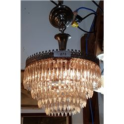 VINTAGE CRYSTAL DROP CHANDELIER