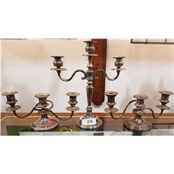 3 PCS SILVERPLATE CANDELABRA