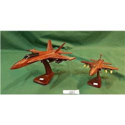 TWO MAHOGANY MODEL PLANES