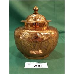 COPPER GINGER JAR