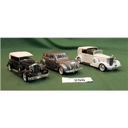 THREE DIE CAST CARS
