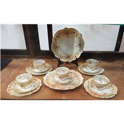 16 PC VICTORIAN PORCELAIN TEA SET