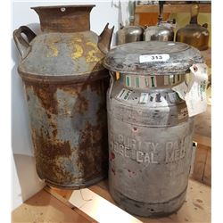 TWO MILK CANS