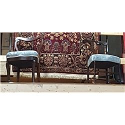 TWO PROFESSIONALLY REUPHOLSTERED CHAIRS