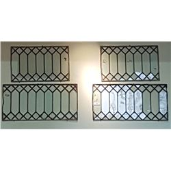 LOT OF 4 LEADED GLASS WINDOWS