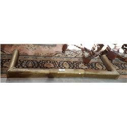 ANTIQUE BRASS EXPANDING FIREPLACE SURROUND