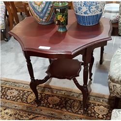 PROFESSIONALLY REFINISHED MAHOGANY OCTAGONAL PARLOUR TABLE