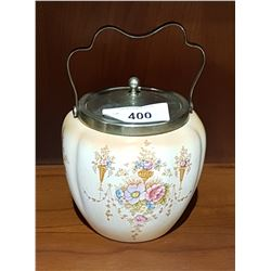 VICTORIAN PORCELAIN BISCUIT BARREL