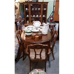 VINTAGE PECAN 8 PC DINING SUITE
