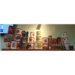 SHELF LOT VINTAGE CANNISTER SETS & COLLECTIBLE TINS