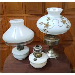 THREE OIL LAMPS