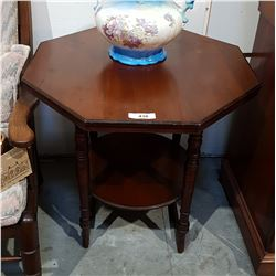 MAHOGANY OCTAGONAL OCCASIONAL TABLE