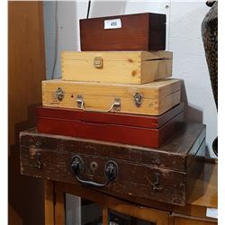 LOT OF 5 ASSORTED WOODEN BOXES
