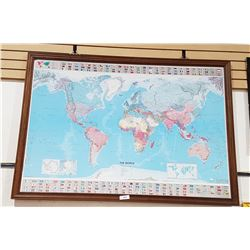 FRAMED WORLD MAP BY MICHELIN
