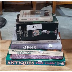 LOT OF 7 ANTIQUES COLLECTOR'S BOOKS