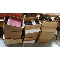 9 BOXES VINTAGE 45 RECORDS