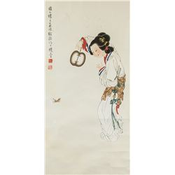 XU CAO Chinese 1899-1961 Watercolor Paper Roll