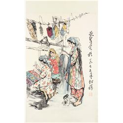 HUANG ZHOU Chinese 1925-1997 Watercolor Scroll