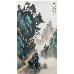 LI XIONGCAI Chinese 1910-2001 Watercolor Scroll