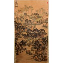 SHEN ZHUO Chinese 1801-1835 Watercolor Scroll