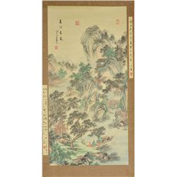 WANG HUI Chinese 1632-1717 WC Hanging Scroll