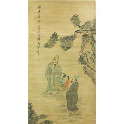 YUN SHOUPING Chinese 1633-1690 Watercolor Scroll
