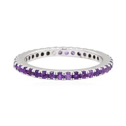 0.8 ctw Amethyst Ring - 14KT White Gold